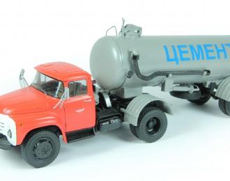 ZIL-130В цементовоз, красный / серый