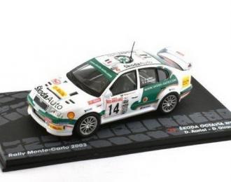 SKODA Octavia WRC #14 D.Auriol/Giraudet 9 место Rally Monte-Carlo 2003
