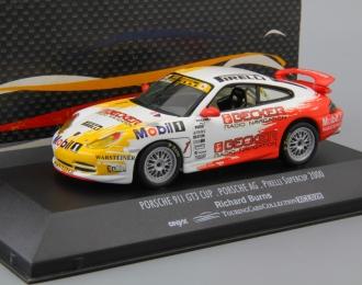PORSCHE 911 GT3 Cup Richard burns #1, white / red / yellow