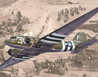 Сборная модель Самолёт Douglas C-47 Skytrain (Dakota MK.III)