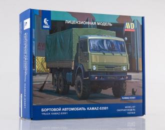 Сборная модель КАМАЗ-53501 6x6 Мустанг