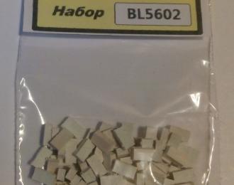 Кирпич белый (силикатный), комплект 100 шт., белый