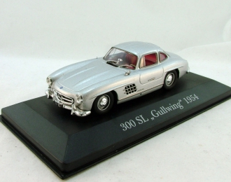 MERCEDES-BENZ 300 SL Gullwing (1954), Mercedes-Benz Offizielle Modell-Sammlung 1, серебристый