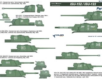 Декаль для ISU-152/ ISU-122 Part I