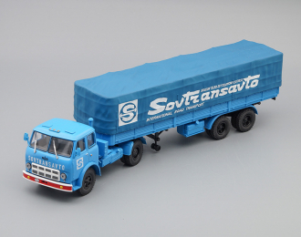 МАЗ 504В с полуприцепом 5205А SovTransavto, голубой