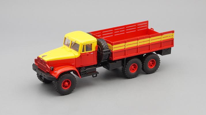 КРАЗ 214Б бортовой Аварийный (1963-1967), красный с желтым