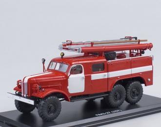 ПМЗ-27 (на шасси ЗИЛ 157К) белые полосы без надписей, красный