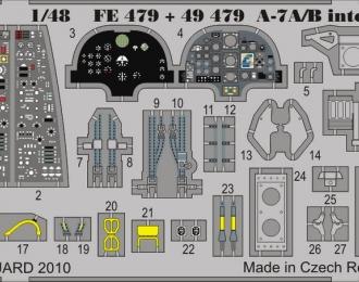 A-7A/B interior S.A. HOBBY BOSS
