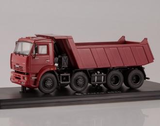 КАМАЗ 6540 8х4 самосвал ранний, темно-красный
