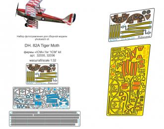 Набор фототравления для сборной модели DH. 82 Tiger Moth (ICM)