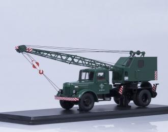 Автокран К-51 (МАЗ-200), зеленый