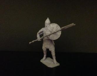 Монгольский военачальник с боевыми вилами, войско Мамая (54мм)