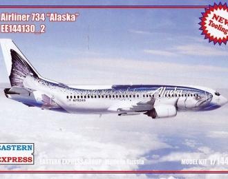 """Сборная модель Авиалайнер Boeing 737-400 (Alaska """"Рыба"""")"""