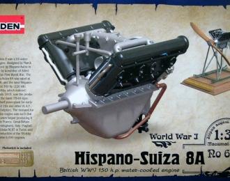 Набор для доработки Британский авиадвигатель Hispano-Suiza 8A