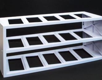 Дисплей стэнд на 15 моделей белый (18,5х49х20,5)