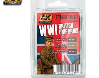 """WWI BRITISH UNIFORMS (набор красок """"британские униформы Первоймировой"""")"""
