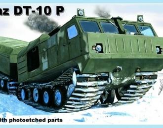 Сборная модель Советский гусеничный сочлененный вездеход ДТ-10П Витязь