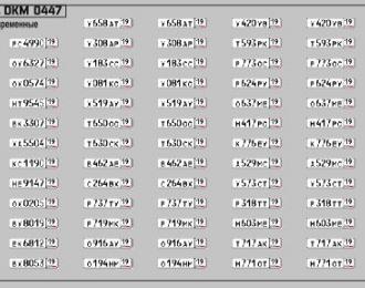 Набор декалей Номерные знаки России Республика Хакасия (100х70)