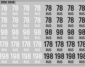 Набор декалей Дублирующие знаки России г. Санкт-Петербург (100х70)