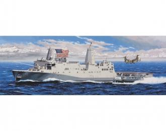 Сборная модель Американский вертолетно-десантный корабль-док NEW YORK LPD-21