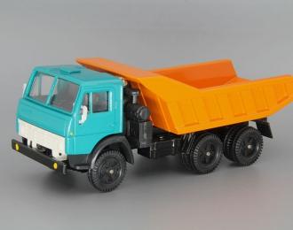 КАМАЗ 5511 самосвал (вертикальные ребра), зеленый / оранжевый