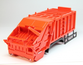Надстройка Мусоровоз КО-427(16 кубов) 3-х осный, оранжевый
