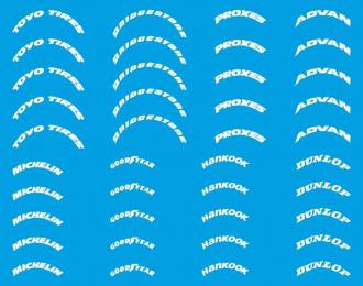 Набор декалей Логотипы на Шины №1