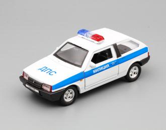 Волжский автомобиль 2108 Милиция, белый
