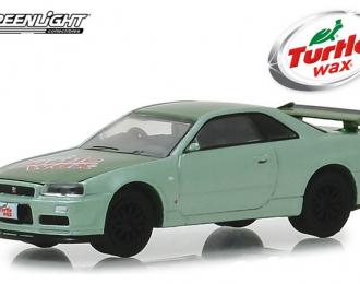 "NISSAN Skyline GT-R (R34) ""Turtle Wax"" 2000 TwoTone Green"