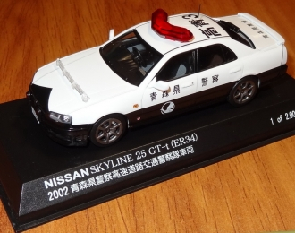 NISSAN Skyline 25 GT-t (ER34) Patrol Car (2002), white / black