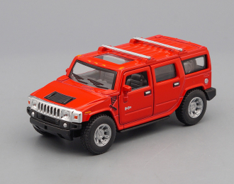 HUMMER H2 SUV (2008), red
