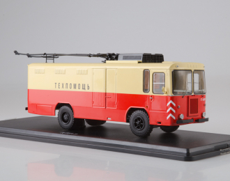Грузовой троллейбус КТГ-1, красный / бежевый