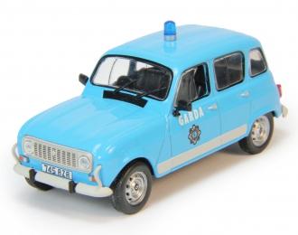 RENAULT 4L Garda, Полицейские Машины Мира 76, голубой