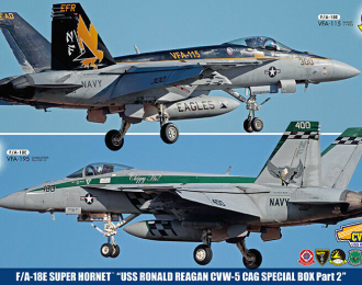 Сборная модель Cамолеты F/A-18E SUPER HORNET USS RONALD REAGAN CVW-5 CAG SPECIAL