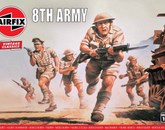 Сборная модель Набор солдатиков WWII British 8th Army