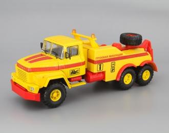 КрАЗ-260 БРО-200 Буксировочный тягач, желтый / красный