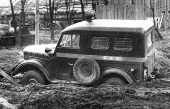 Горький 69 (цельнометаллический кузов; ранний) - Милиция (ГАИ)