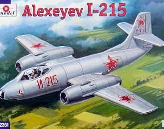 Сборная модель Советский опытный истребитель-перехватчик Алексеев И-215