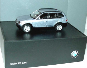 BMW X3 3.0d E83 (2004), blue water met.