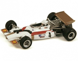 BRM P153, 4, French GP 1970 George Eaton (F1), white