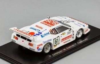 BMW M1, 61, Le Mans 1982 R. Ennequin - M. Gabriel - F. Gasparetti, white