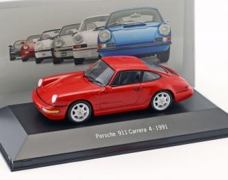 Porsche 911 Carrera 4 1991 (red)