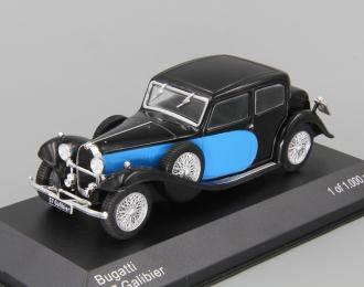 BUGATTI Type 57 Galibier (1935), black / blue