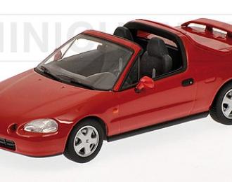 HONDA CR-X del Sol (1993), red