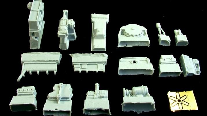 Сборная модель Двигатель Д-108 (Т-100М)