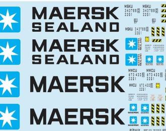 Набор декалей Контейнеры Maersk (100х140)