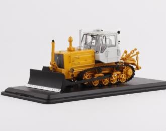 Трактор Т-150 гусеничный с отвалом, желтый / белый