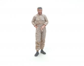 Фигура Немецкий гонщик Бернд Розмайер, окрашенная