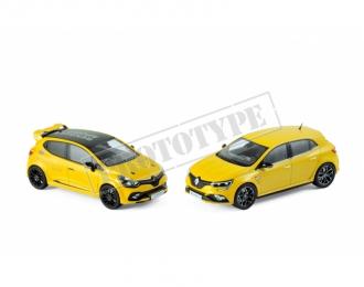 набор из 2 моделей RENAULT Clio R.S.16 & Megane R.S. 2017 Yellow