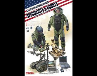 Сборная модель Американские саперы с роботами и  снаряжением